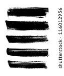 black vector brush strokes... | Shutterstock .eps vector #116012956