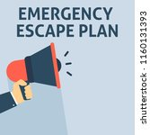 emergency escape plan... | Shutterstock .eps vector #1160131393
