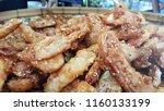 fried banan fritters | Shutterstock . vector #1160133199