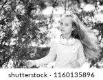 kid dance to music in summer...   Shutterstock . vector #1160135896