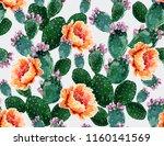 seamless vector floral summer... | Shutterstock .eps vector #1160141569