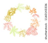 autumn background. wreath with... | Shutterstock .eps vector #1160143336