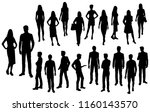 vector silhouettes men and... | Shutterstock .eps vector #1160143570