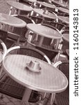 cafe table and chairs  malmo ... | Shutterstock . vector #1160143813
