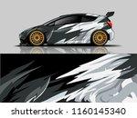 car wrap graphic racing...   Shutterstock .eps vector #1160145340