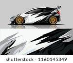 car wrap graphic racing...   Shutterstock .eps vector #1160145349