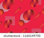 memphis seamless pattern.... | Shutterstock .eps vector #1160149750