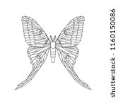comet moth vector illustration...   Shutterstock .eps vector #1160150086