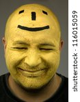 Painted Face  Black And Yellow...