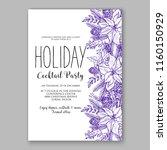 winter floral vector background ...   Shutterstock .eps vector #1160150929