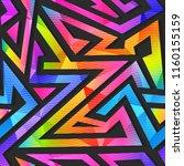 rainbow geometric seamless...   Shutterstock .eps vector #1160155159