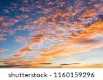 colorful sky in twilight time ... | Shutterstock . vector #1160159296
