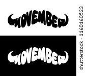 movember mustache shape vector...   Shutterstock .eps vector #1160160523