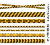 lines isolated. warning tapes.... | Shutterstock .eps vector #1160161330