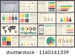 infographic elements with world ... | Shutterstock .eps vector #1160161339