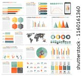 infographic elements with world ... | Shutterstock .eps vector #1160161360