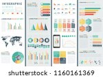 infographic elements with world ... | Shutterstock .eps vector #1160161369