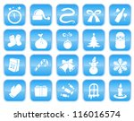 christmas and new year icon set | Shutterstock .eps vector #116016574