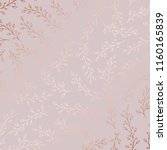 rose gold. vector ornamental... | Shutterstock .eps vector #1160165839