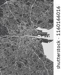 monochrome detailed plan city... | Shutterstock .eps vector #1160166016