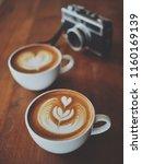coffee latte art in coffee shop ... | Shutterstock . vector #1160169139