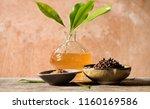 clove  green leaves dried... | Shutterstock . vector #1160169586