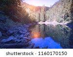mountain lake rosohan of the...   Shutterstock . vector #1160170150
