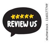review us. vector illustration... | Shutterstock .eps vector #1160177749