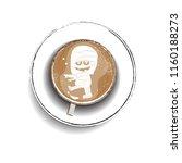 coffee cup design for halloween ... | Shutterstock .eps vector #1160188273