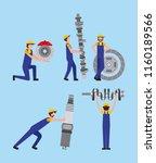 automotive industry workers... | Shutterstock .eps vector #1160189566