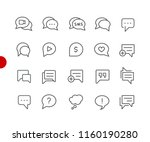bubble icons    red point... | Shutterstock .eps vector #1160190280