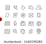 communications icons    red... | Shutterstock .eps vector #1160190283