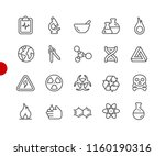 science icons    red point... | Shutterstock .eps vector #1160190316