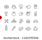 food icons   set 1 of 2    red... | Shutterstock .eps vector #1160190346