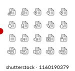 documents icons   set 1 of 2    ... | Shutterstock .eps vector #1160190379