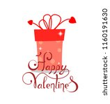 gift with a lettering to the... | Shutterstock .eps vector #1160191630