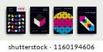 retro cover templates... | Shutterstock .eps vector #1160194606