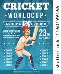 sport poster of cricket....   Shutterstock .eps vector #1160199166
