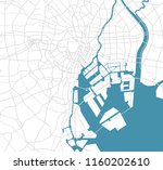 tokyo bay area road map  | Shutterstock .eps vector #1160202610