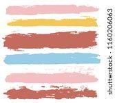 brush strokes set backgrounds.... | Shutterstock .eps vector #1160206063