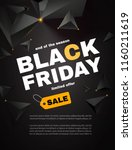 black friday sale layout... | Shutterstock .eps vector #1160211619