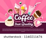 coffee and cakes. bakery  candy ... | Shutterstock .eps vector #1160211676
