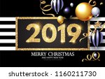 happy new 2019 year  shining... | Shutterstock .eps vector #1160211730