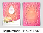 two sided vertical flyer of a4... | Shutterstock .eps vector #1160211739