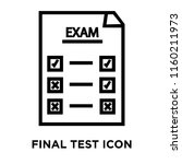 final test icon vector isolated ... | Shutterstock .eps vector #1160211973