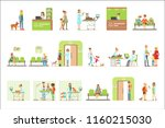smiling cartoon characters... | Shutterstock .eps vector #1160215030