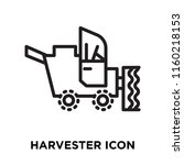 harvester icon vector isolated... | Shutterstock .eps vector #1160218153