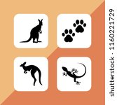 zoo icon. 4 zoo set with animal ... | Shutterstock .eps vector #1160221729