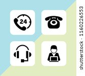 4 call icons in vector set.... | Shutterstock .eps vector #1160226553