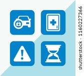 urgency icon. 4 urgency set... | Shutterstock .eps vector #1160227366